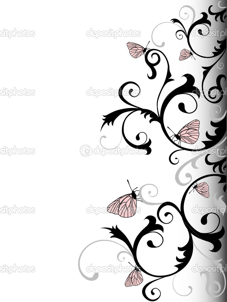 background with butterflies — Stock Vector #1098000