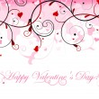 Vector de stock : Beautiful valentine card