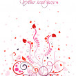Beautiful valentine card — Stockvectorbeeld