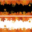 Royalty-Free Stock Векторное изображение: Autumn frame: maple leaf. Place for your
