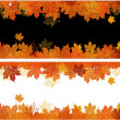 Royalty-Free Stock 矢量图片: Autumn frame: maple leaf. Place for your