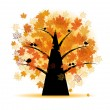 Royalty-Free Stock Imagen vectorial: Maple tree, autumn leaf fall