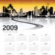 Royalty-Free Stock Vectorielle: Cityscape background, calendar