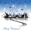 Royalty-Free Stock Vector Image: Cityscape background christmas for your