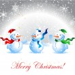 Royalty-Free Stock Vector Image: Christmas card, snowman