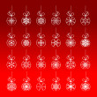 Royalty-Free Stock Vector Image: Christmas decoration set