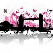 Cityscape background, urban art — Vector de stock #1088744