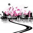 Cityscape background, urban art — Vector de stock #1088748