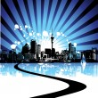 Cityscape background, urban art - Stock Vector