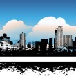 Cityscape background, urban art — Vector de stock #1088773