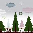 Nature landscape with trees — Stock Vector