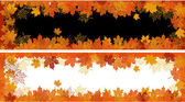 Autumn frame: maple leaf. Place for your — Stock Vector