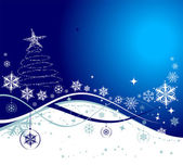 Christmas holiday background, vector ill — Stock Vector