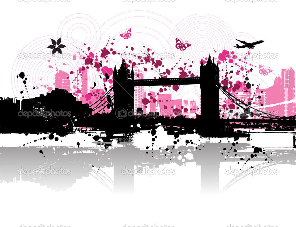 Cityscape background, urban art  Stock Vector #1088744