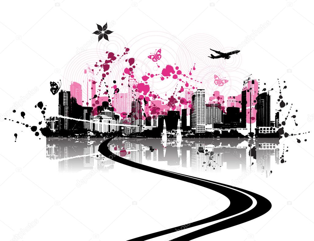 Cityscape background, urban art — Stock Vector #1088748