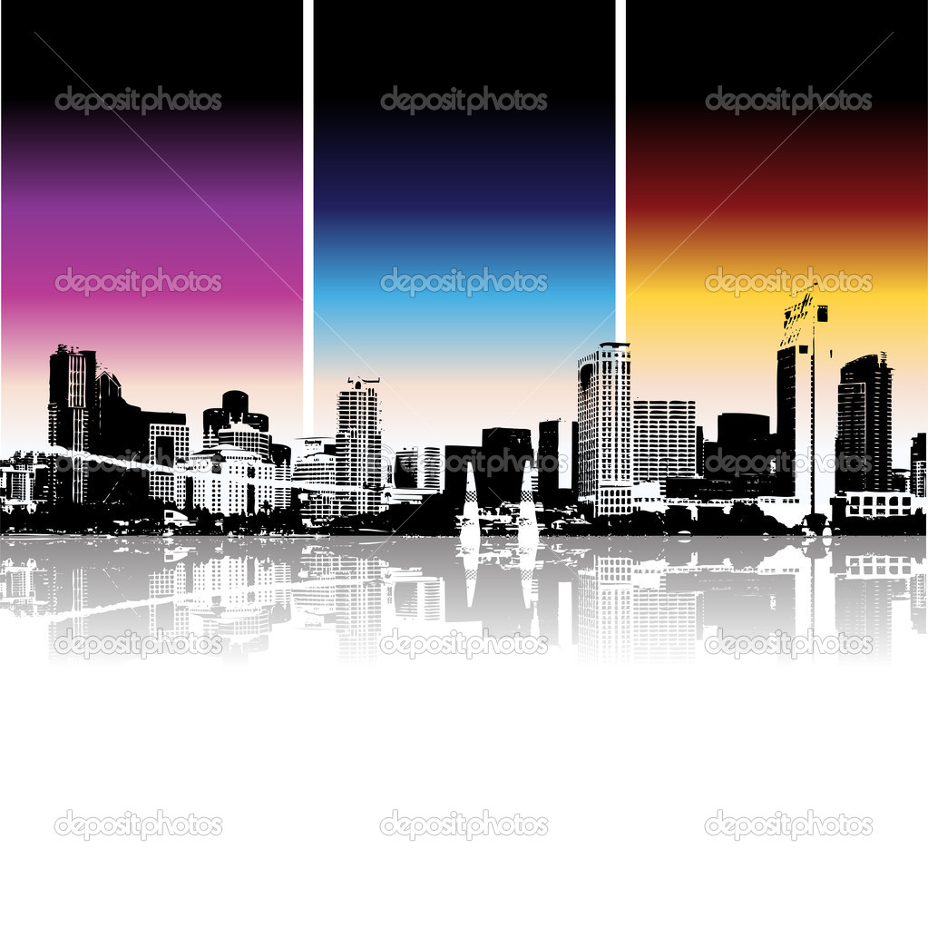 Cityscape background, urban art  Imagens vectoriais em stock #1088770