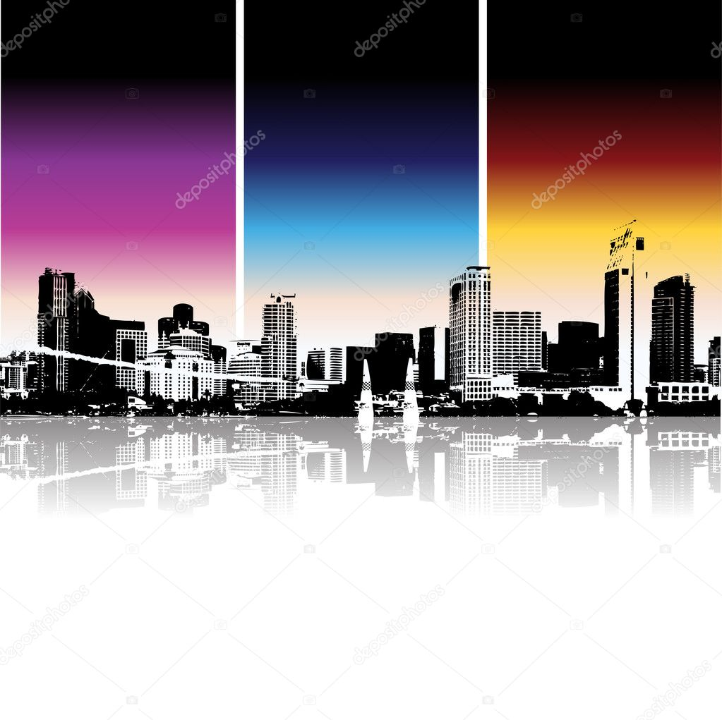 Cityscape background, urban art — Stockvectorbeeld #1088770