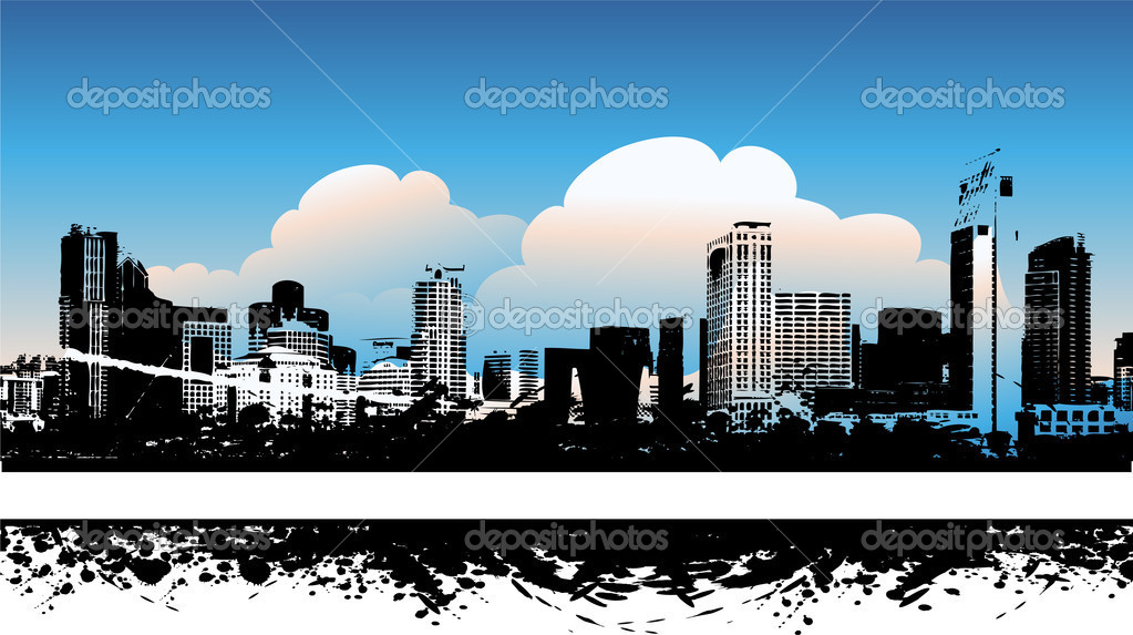 Cityscape background, urban art — Stock Vector #1088773