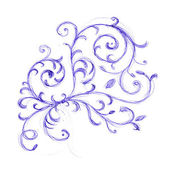 Floral ornament sketch for your design — Stock Photo