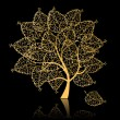 Royalty-Free Stock Imagen vectorial: Golden tree