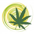 Royalty-Free Stock Vector Image: Cannabis leaf
