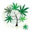 Cannabis tree — Stock Vector
