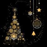 Christmas tree beautiful — Stock Vector #1356166