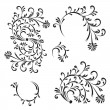 Floral ornament, design elements — Stock Vector