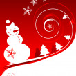Royalty-Free Stock Vector Image: Happy snowman, christmas card