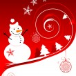 Royalty-Free Stock ベクターイメージ: Happy snowman, christmas card