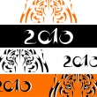 Tiger banners, symbol new year — Stock Vector