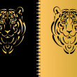 Royalty-Free Stock Vectorielle: Tiger stylized silhouette