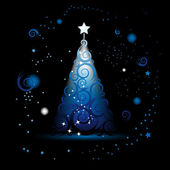 Christmas tree beautiful — Stock Vector