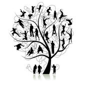Family tree, relatives — Stock Vector