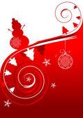 Winter holiday, christmas card — Stock Vector