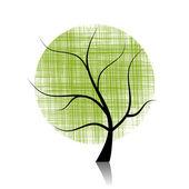 Art tree beautiful — Stock Vector