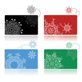 Christmas shopping, set of credit cards — Stock Vector