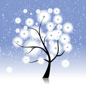 Winter tree beautiful — Stock Vector