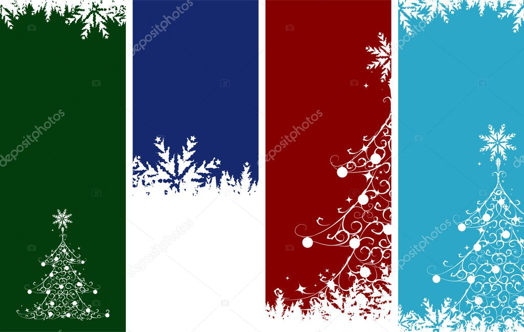 Christmas banners. Place your text here. — Stock Vector #1356130