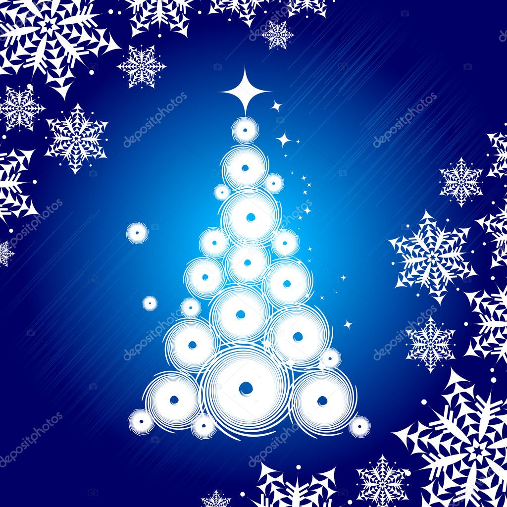 Christmas tree beautiful — Stock Vector #1356211