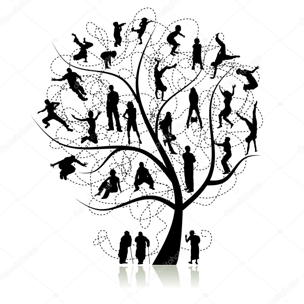 Family tree, relatives  Stock Vector #1356353