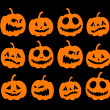 Royalty-Free Stock Vector Image: Halloween night background, pumpkins