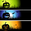 Halloween banners for your design — Stok Vektör