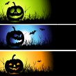 Halloween banners for your design — Stockvectorbeeld