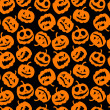 Halloween holiday, seamless background — Imagen vectorial