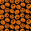Halloween holiday, seamless background - Stock Vector