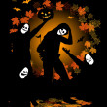 Halloween party, dancing — Stock Vector