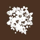 Floral bouquet silhouette — Stock Vector