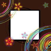 Picture frame design, place for your image or te — Stock Vector