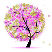 Floral tree beautiful — ストックベクタ